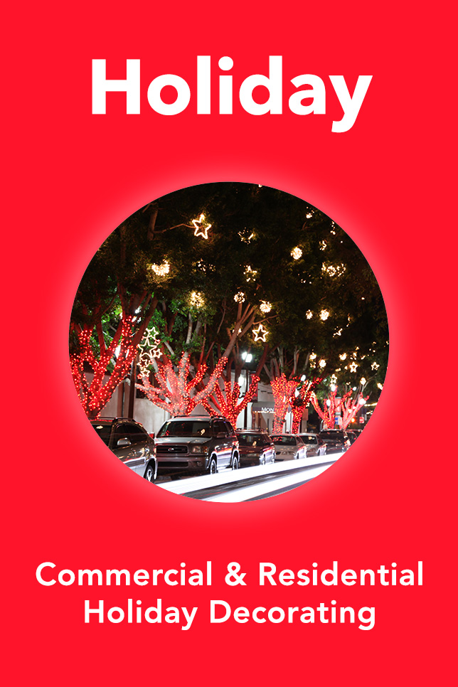 Holiday Decorating. Commercial & Residential Holiday Decorating and Lighting.