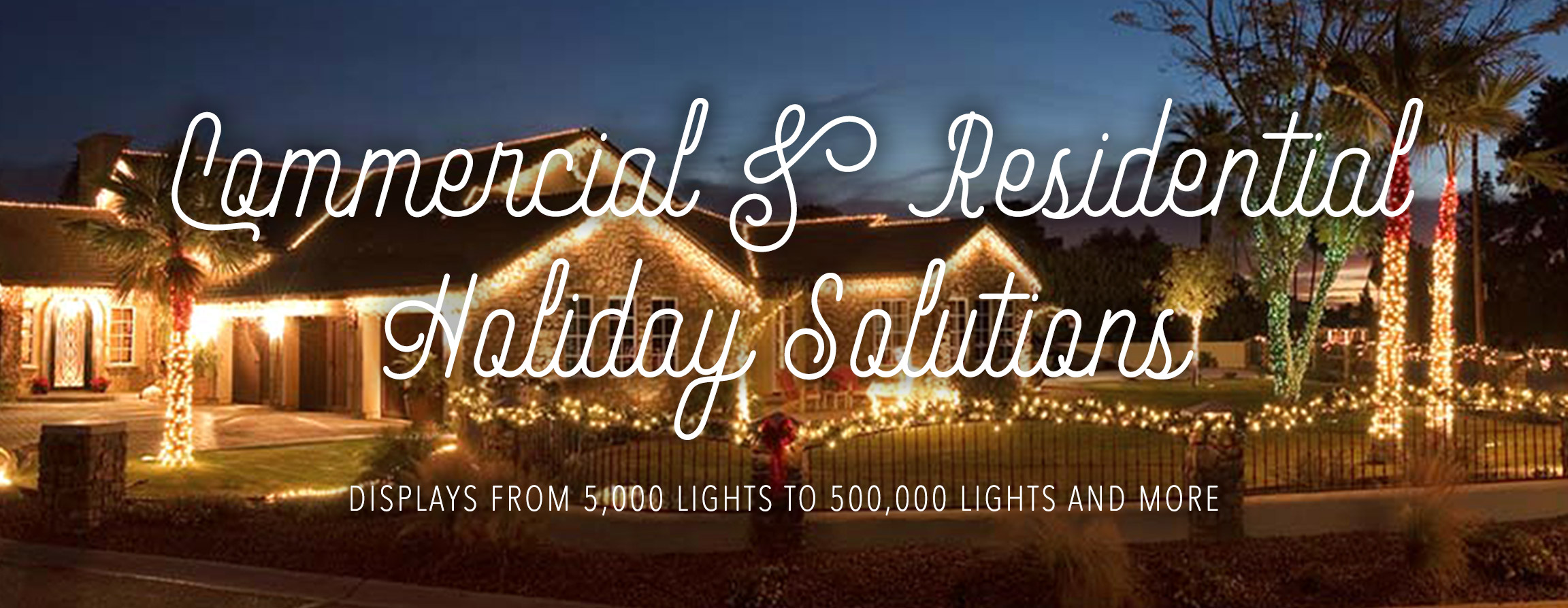 Commercial & Residential Holiday Lighting and Decorating Solutions. Large and small scape displays starting at $799. Custom designs and preset themes available. See what Spirit Lighting can do for YOU!